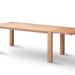 BS180 BASIC Tisch Eiche geölt mit Ansteckplatte
