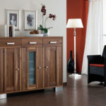 CT052 Highboard Nussbaum geölt