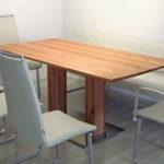 DM184 Esstisch mit zwei Stollen, rechteckige Platte