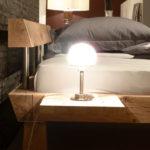 DR186 Bett aus massiven Eichen-Balken, Kopfteil
