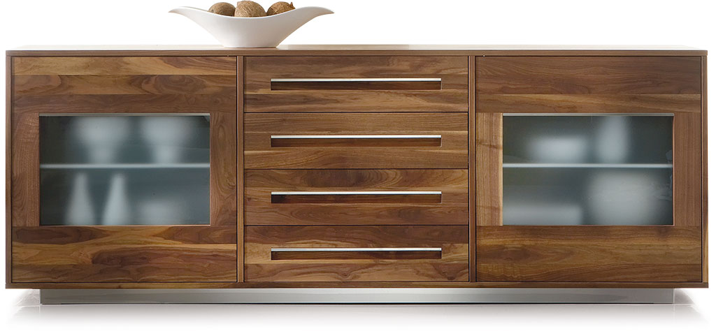 Sideboard nussbaum glas  SQARE Sideboard SQ038 | Pönnighaus Möbelmanufaktur :: Massivholz ...