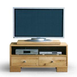 CT025 TV-Podest Wildeiche geölt, mit TV-Drehbühne