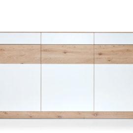 KT238 Sideboard Wildeiche weiß geölt Fronten Lack weiß