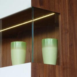 KT275 Highboard Vitrinenteil mit LED-Beleuchtung