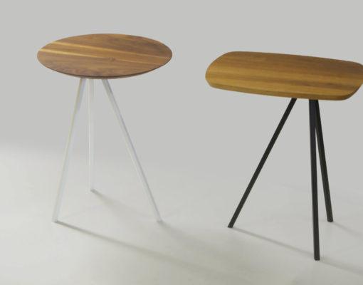 SPIN Beistelltische Platte rund/Freiform