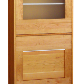 Highboard/Vitrine SQ071 Kirsche geölt